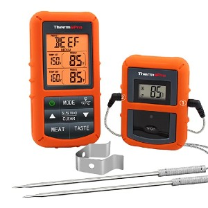 ThermoPro TP20  - Best Grill Thermometer for Big Green Egg: Dual-probe technology