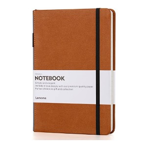 Lemome Thick Classic Notebook with Pen Loop - Best Notebook for Students: Well-made