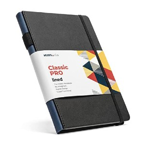 HUSTLE Co. Thick Hardcover Notebook - Best Notebook for Fountain Pens: Robust and practical