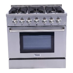 Thor Kitchen 36 inches Professional Style Gas Range - Best Commercial Ranges for Restaurants: Best compact pick