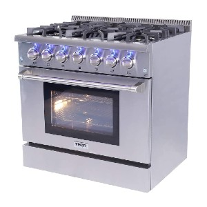 Thor Kitchen 36 inches Professional Style Gas Range  - Best Ranges for Home Chefs: Great power and performance