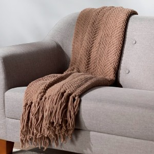 Three Posts™ Nader Tweed Throw - Best Blanket for Couch: Fade- and Stain-Resistant Blanket