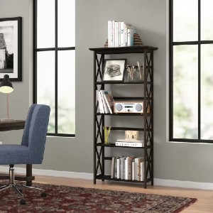 Three Posts™ Hitz Solid Wood Etagere Bookcase - Best Solid Wood Bookcases: Standard Bookcase