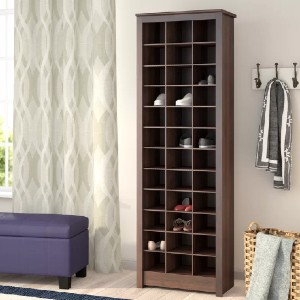 Three Posts™ Kahl 36 Pair Shoe Rack - Best Shoe Racks for Small Spaces: Space-Saving Storage Cabinet