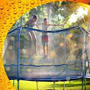 ThrillZoo Waterpark Heavy Duty Trampoline Sprinkler Hose - Best Trampoline Sprinkler: No more leakage