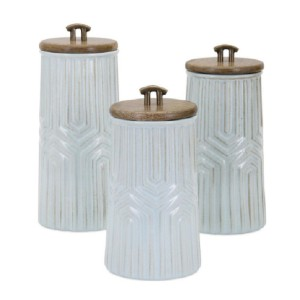 IMAX Worldwide Home Tia  - Best Canister Sets for Kitchen: Conveys Artisan Skill and Quality Craftsmanship