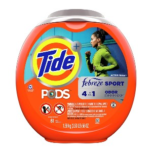 Tide PODS 4 in 1 Febreze Sport Odor Defense - Best Laundry Detergents to Remove Odors: Simple PODS Detergent