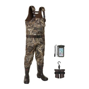 TideWe Realtree MAX5 Camo Waterfowl Duck Waders - Best Waders for Fly Fishing: Solid and durable material