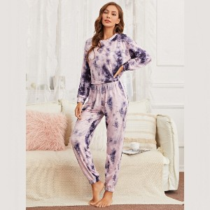 Shein Tie Dye Print Lounge Set  - Best Affordable Loungewear Sets: Best for budget