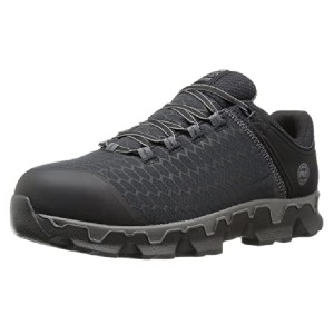 Timberland Men's Powertrain Sport Alloy Safety Toe - Best Safety Shoes for Walking on Concrete: Athletic Style Work Shoes