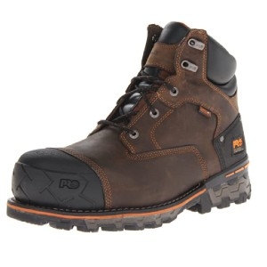 Timberland Men's Boondock 6 Inch Composite Safety Toe - Best Safety Shoes for Plantar Fasciitis: Premium Leather Work Shoes