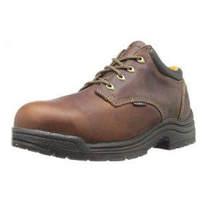 Timberland Men's Titan Safety Toe Oxford - Best Safety Shoes for Walking on Concrete: Durable Leather Work Shoes