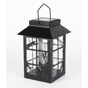 Gracie Oaks Timmy 10-Light LED Outdoor Hanging Lantern - Best Solar Lanterns: Turn Unit to Auto when Charging