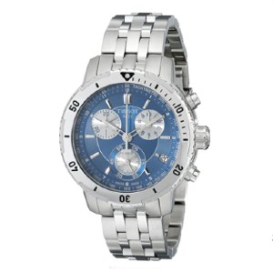 Tissot T0674171104100 PRS 200 Blue Chronograph Dial Watch - Best Waterproof Watches: Blue Dial with Luminous Hands and Index Hour Marker