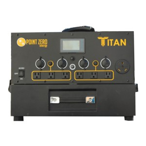Point Zero Energy Titan - Best Portable Power Station with Solar Panels: True to its name