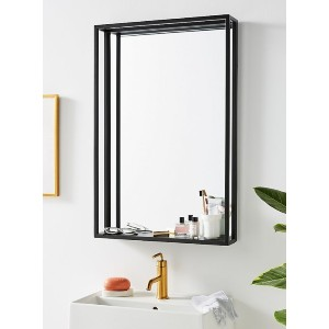 Anthropologie Titus Shelved Mirror - Best Mirror for Bathroom: Fitted with Ready-To-Hang D-Ring