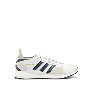 ADIDAS Tokio Solar heart-embossed mesh & nubuck trainers - Best Sneakers Under 150: Round Toe with Navy Leather Stripes and Cross