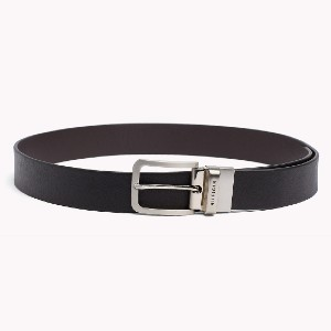 Tommy Hilfiger REVERSIBLE LEATHER BELT - Best Men's Belt for Jeans: Leather Belt with The Smooth Turn of a Buckle