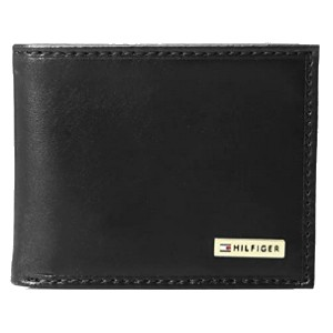 Tommy Hilfiger Men's Leather Passcase Wallet  - Best Minimalist Wallet for Men: With removable pass case