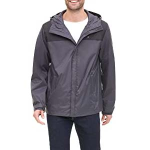 Tommy Hilfiger Men's Waterproof Hooded Jacket - Best Raincoats for Summer: Fits perfectly, works maximally