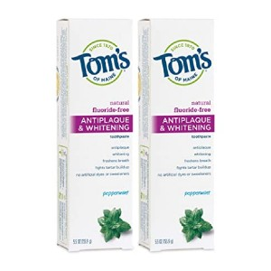 Tom's of Maine Fluoride-Free Antiplaque & Whitening Natural Toothpaste - Best Toothpaste without Fluoride: Best popular pick