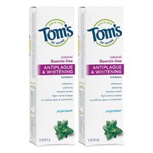 Tom's of Maine Antiplaque & Whitening Natural Toothpaste - Best Toothpaste to Remove Plaque: Best popular pick