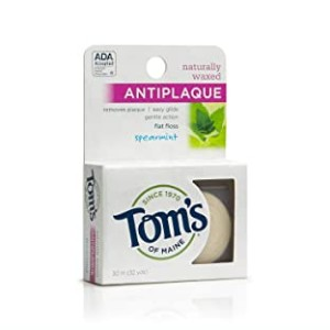 Tom's of Maine Naturally Waxed Antiplaque - Best Natural Dental Floss:  All-natural product