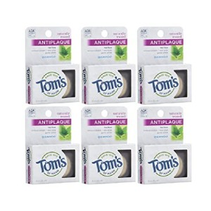 Tom's of Maine Naturally Waxed Antiplaque Flat Dental Floss - Best Dental Floss Threader:  All-natural product