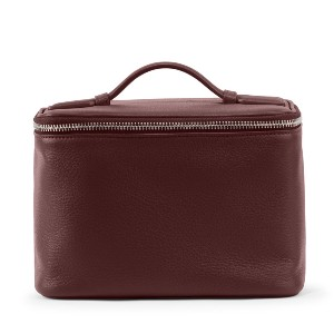 Leatherology Top Handle Train Case - Best Makeup Case for Travel: Four Interior Open Pockets