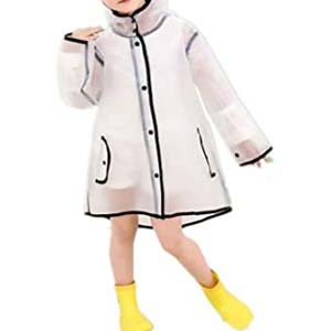 TopZK Kids Clear Raincoat Rain Jacket Toddler - Best Raincoats for Toddlers: Fashionable style