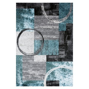 The Rug Truck Toscana 307 Blue/Grey Area Rug - Best Entryway Rug for Winter: One-of-a-kind