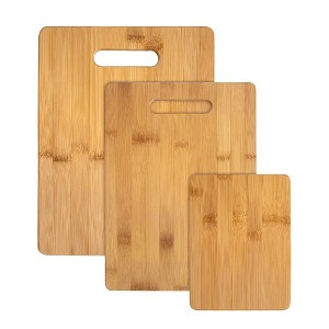Totally Bamboo 3-Piece Bamboo Cutting Board Set - Best Cutting Boards for Chicken: Three different sizes