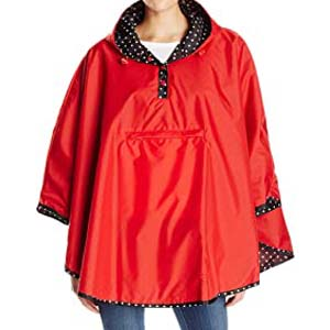 Totes Women's Reversible Rain Poncho - Best Raincoats for Disney: Plain or printed? Why not both?