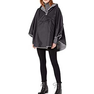 Totes Women's Reversible Rain Poncho - Best Raincoats with a Suit: Adorable and Reversible