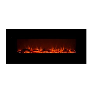 Touchstone 80001 - Onyx Electric Fireplace - Best Electric Fireplace for Basement: Best on-wall pick