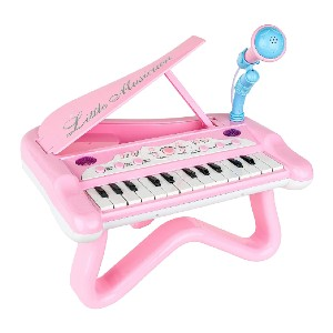 ToyVelt Toy Piano for Toddler Girls - Best Musical Toys for 4-Year-Olds: All-in-one piano