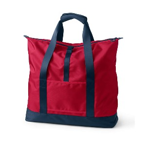 LAND'S END Travel Carry On Luggage Tote Bag - Best Tote Bags for Travel: Water-Resistant Finish Helps Keep Belongings Dry