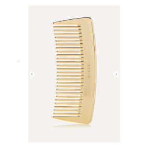AERIN Travel Gold-Tone Comb - Best Hair Brushes: Luxurious Polished Gold Finish