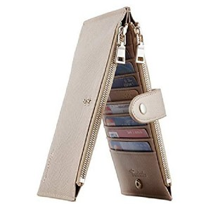 Travelambo Multi Card Case Wallet with Zipper Pocket  - Best Wallet for Lots of Cards: Slim in timeless design