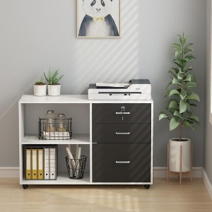 Tribesigns 3 Drawer Wood File Cabinets with Lock - Best File Cabinets for Home: Versatile File Cabinet