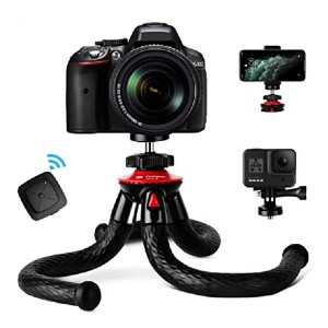 Fotopro Flexible Camera Tripod with Bluetooth - Best Tripods for Smartphone: Super strong grip
