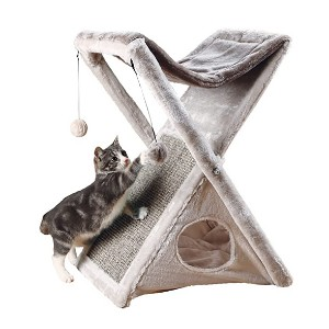 Trixie Miguel Fold and Store Cat Tower - Best Cat Beds for Kittens: Mini condo with play area