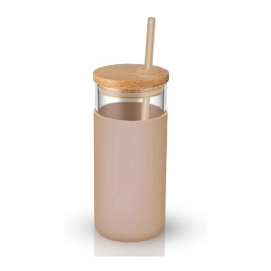Tronco Glass Tumbler - Best Tumbler for Iced Coffee: Colorful silicone sleeves