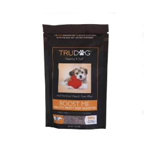 TruDog Boost Me Mighty Meaty Beef Raw Freeze-Dried Dog Food Enhancer - Best Dog Foods Made in USA: Healthy Boost Food