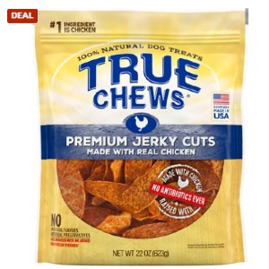 True Chews Premium Jerky Cuts with Real Chicken Dog Treats - Best Dog Jerky Treats: High Protein Jerky