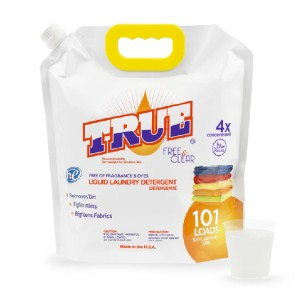 True Free & Clear Laundry Detergent for Sensitive Skin - Best Laundry Detergents to Remove Odors: Dermatologists Suggested