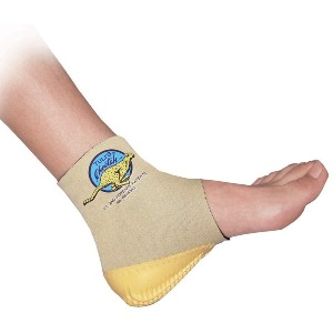 Tuli's Cheetah Heel Cup with Compression Ankle Support Sleeve - Best Heel Cups for Heel Spurs: Fitted Slip-On Heel Cup