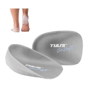 Tuli's So Soft Heavy Duty Gel Heel Cups - Best Heel Cups for Achilles Tendonitis: Fits in most Shoes