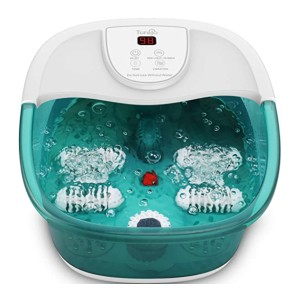 Turejo Foot Bath Massager - Best Foot Spa with Pumice Stone: Massages acupressure points