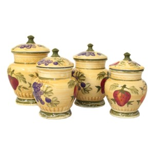 Tuscan Collection Deluxe - Best Canister Sets for Kitchen: Handcrafted and Hand-Painted